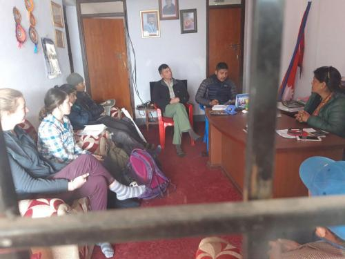Explaining NCDF and EWB program at Kalinchok rural municipality vice mayor