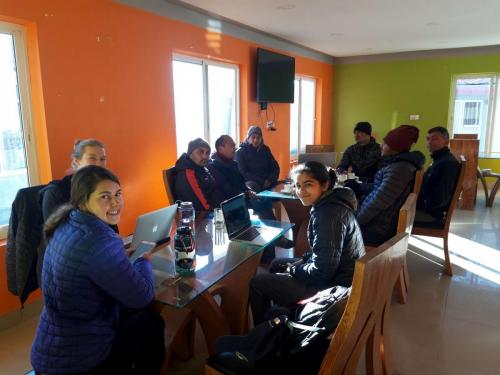 NCDC staff and EWB team meeting at Charikot