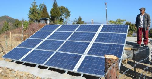 Solar lifting for drinking water
